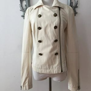 Free People Double Breasted Jacket Coat Long Sleev